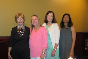 2015 GCMS Alliance Installation Gail Holand, Christine Rice, Sue Ann Greco (MSMAA President), and Shweta Agarwal