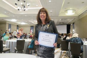 Barbara Hover -- 2015 AMAA Outstanding Member